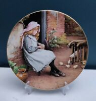 "WEDGEWOOD ""YESTERDAY'S CHILD"" THE NEW BROOD BONE CHINA COLLECTORS' PLATE"