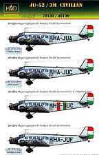 Hungarian Aero Decals 1/144 JUNKERS Ju-52/3M Hungarian Civil Airlines