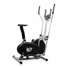 We R Sports 2 in 1 Elliptical Cross Trainer and Exercise Bike - Black
