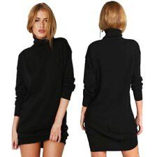 Women's Turtleneck Knitwear Sweater Jumper Dress Winter Warm Pullover Knit Tops