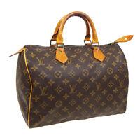 LOUIS VUITTON SPEEDY 30 HAND BAG PURSE MONOGRAM CANVAS M41526 VI872 A52897