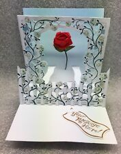 Pop Shots Rose Trellis  Traditional  card     Valentine's Day