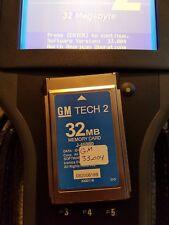 GM Tech2 Memory Card 32mb w/33.004 software. 1991-2013  FREE SHIPPING     Tech 2
