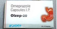 OTC Olzep 200 Capsules OMEPRAZOLE 20mg Acid Ocid Reducer Formula Ship Worldwide