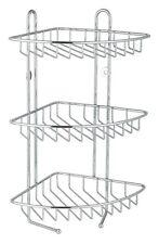 3TIER STAINLESS STEEL BATH CORNER SHOWER CADDY/RACK/STORAGE ORGANIZER SHELF UNIT