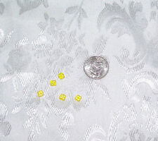 BARBIE ACCESSORY LOT  5 MINIATURE CLEAR YELLOW DICE DIE FOR GAMES 1/6 LITTLES