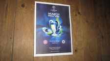 2012 Champions League Final POSTER of Programme Chelsea Winners