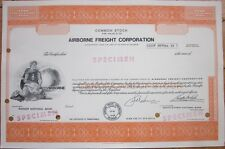 Specimen Stock Certificate: 'Airborne Freight Corporation' Shipping/Express