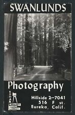 Rare CA Eureka RPPC 1955 SWANLUND'S PHOTOGRAPHY at 516 F Street & 316 First St.