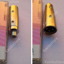 CONNETTORE 3 poli XLR MASCHIO >> RCA FEMMINA mixer microfono casse*KaotikaStore*