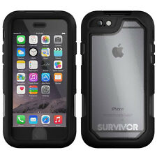 "NEW GRIFFIN SURVIVOR SUMMIT 4.7"" IPHONE 6 6S TOUGH HARD CASE COVER BLACK CLEAR"