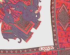 AUTH.CARRÉ EN MOUSSELINE DE SOIE BY JEANNE LANVIN *84 x 84 cm *VINTAGE EXCELLENT