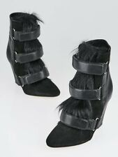 Isabel Marant - Black - Scarlet Pony / Suede Wedge Boots - Size 40