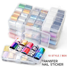 10Pcs/box Holographicssssss Nail Foils Set  Sky Nail Art Transfer Sticker Salon
