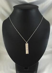 18CT WHITE GOLD TIFFANY & CO. LUCIDA DIAMOND BAR PENDANT