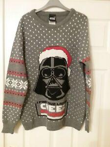 Star Wars Darth Vader Mens Christmas Knit Jumper - Size L Large