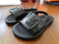 Michael Kors Eli Slide T slides toddlers sandals sandels shoes new black