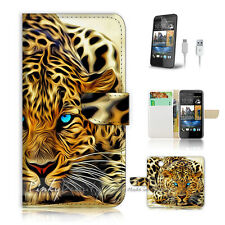 ( For HTC Desire 310 ) Case Cover! Blue Eye Leopard P0354