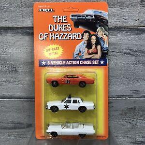 1997 ERTL The Dukes Of Hazzard General Lee Rosco Boss 3-Car ActionChase Set NEW