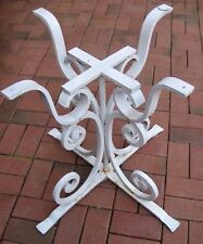 """Circa 1920-30s Rare Antique Cast Iron Footed Table Base-Scrollwork  26-1/4"""" Tall"""