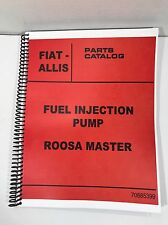 Allis Chalmers Roosa Master Fuel Injection Pump Parts Manual Fiat AC
