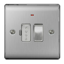 BG Nexus Metal NBS52 - STAINLESS STEEL Switched Fused Spur FCU with Neon