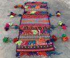 Hand Woven Made Afghan Khurjeen Saddle Bag Wall Hanging Area Rug 2.3 x 1.0 Ft