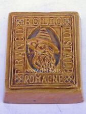 FRANCOBOLLO POSTALE ROMAGNE Faenza ceramica vintage Romagna
