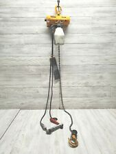 Harrington Pneumatic Hoist Air Hoist 250 lb cap 10 ft Lift Chain Cord Controlled