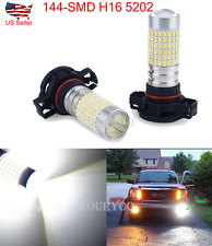 2x 6000k H16 5202 5201 144-SMD LED Bulbs For Car Fog Lamp Daytime Lights 2800LM