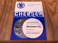 Chelsea v Manchester City League Division 1 Football Programme - 9/2/1974