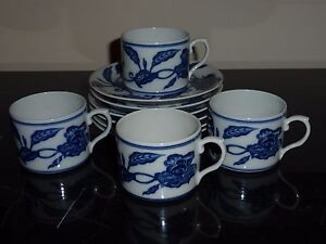 Mottahedeh Palace Blue Ming MMA Metropolitan Museum of Art Set of Cups & Saucers