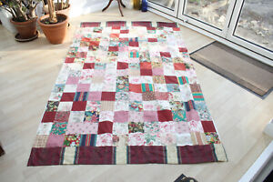Beautiful Floral Patchwork Handmade Fully Lined Single Door Curtain 90 Drop 53 W