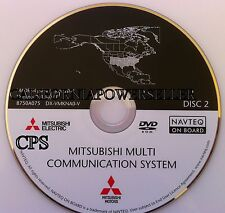 2006 to 2009 Mitsubishi Galant Endeavor Navigation DVD Disc Cover Southeast Map
