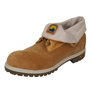 Timberland Mens Boots 45003 Roll Top Ditarod Wheat Leather Expedition Vtg SZ 12