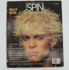 Vintage Spin Magazine JUNE 1986 BILLY IDOL SIOUXSIE AND THE BANSHEES Color BW