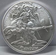 2018 Trivium Girls .999 Silver Shield 1 Troy Oz Round - Art Medal - JY567