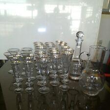 Servizio bicchieri cristallo