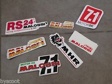 Lot stickers MALOSSI Lion nouveau ancien logo 7.1 motor RS 24 Oil NEUF