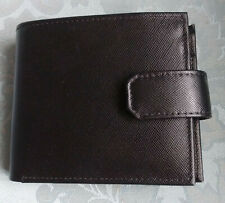 M & S Mens Black Genuine Leather Folding Wallet Coin Purse Gents Immaculate