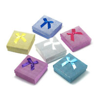 "12 Cardboard Jewelry Boxes for Necklaces Bracelet Ring Textured Square 3.5""x3.5"""