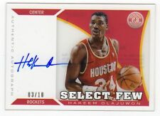 2013-14 Totally Certified Hakeem Olajuwon Clear Acetate Auto #3/10 Rockets