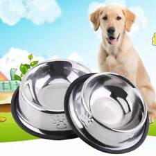 Dog Bowl Stainless Steel Pet Bowl Anti Slip Dog Cat Food Water Feeding Bowl