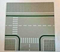 Lego Intersection 32x32 Grey Baseplate Intersection Crosswalk Pattern 2360
