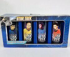 Star Trek Collector Glass Cup Set 4 Pack 10oz Kirk Spock McCoy Uhura
