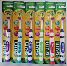 6 pack Butler Gum Crayola Marker Soft #227 Toothbrushes BEST PRICE ONLINE!!