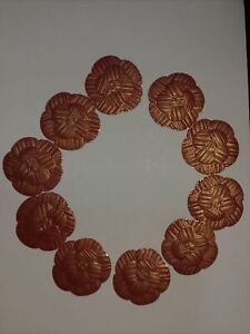 Chanel Red Gold CNY 2021 Paper Camellia Stickers 10pcs Collectable