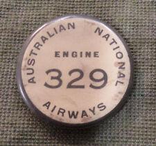 #D326.   AUSTRALIAN TIN BADGE - AUSTRALIAN NATIONAL AIRWAYS, ENGINE 329
