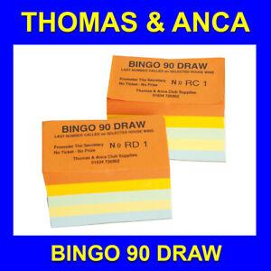 Bingo 90 Tickets 10 Sets of Joe 90 Bingo Fundraising Session Bingo 90 Draw