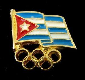 CUBA CUBAN OLYMPIC COMMITTEE OLYMPIC NOC PIN 1990s GENERIC
